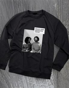 gifts: Personalised Photo Block Black Sweatshirt!