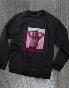 gifts: Personalised Colour Bar Black Sweatshirt!