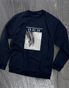gifts: Personalised Memory Time Navy Sweatshirt!