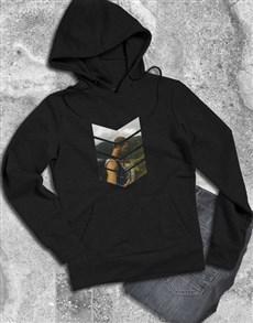 gifts: Personalised Pattern Photo Black Hoodie!