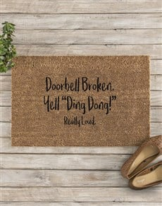 gifts: Personalised Ding Dong Doormat!