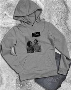 gifts: Personalised Photo Block Grey Hoodie!