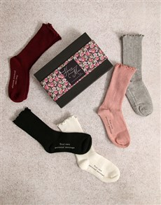 gifts: Personalised Floral Home Frills Sock Pack!