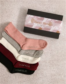 gifts: Personalised Pink Pattern Frills Sock Pack!