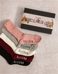 gifts: Personalised Be Wild Frills Sock Pack!
