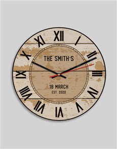 gifts: Personalised Vintage Surname Clock!