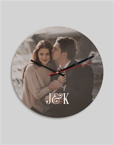 gifts: Personalised Photo And Initials Clock!