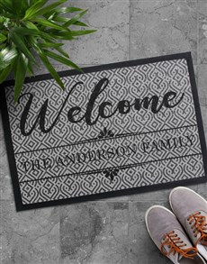 gifts: Personalised Welcome Home Family Doormat!