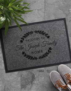 gifts: Personalised Family Home Doormat!
