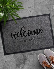 gifts: Personalised Welcome Surname Doormat!
