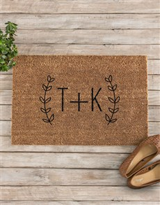 gifts: Personalised Fancy Initials Doormat!