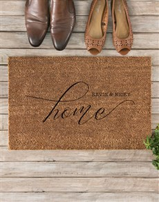 gifts: Personalised Couples Home Doormat!