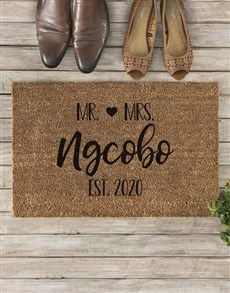 gifts: Personalised Cute Couples Doormat!