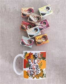 gifts: Personalised Be Wild And Free Mug!