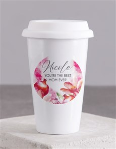 gifts: Personalised Best Mom Travel Mug!