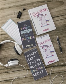 gifts: Personalised Be A Unicorn Note Set!