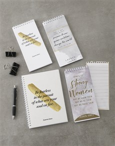 gifts: Personalised Strong Woman Note Set!