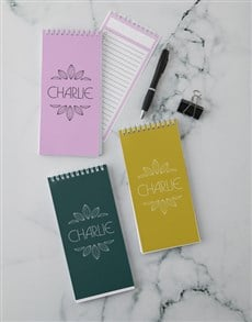 gifts: Personalised Note Set!