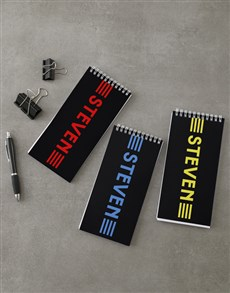 gifts: Personalised Colour Stripes Note Set!