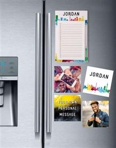 gifts: Colourful Skyline Fridge Magnet Set!
