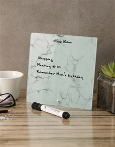 gifts: Marble Glass Reminder Whiteboard!