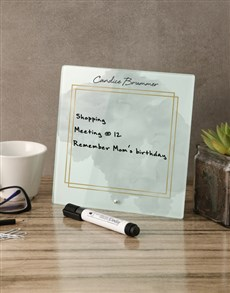 gifts: Watercolour Glass Reminder Whiteboard!