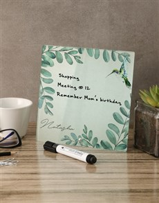 gifts: Nature Glass Reminder Whiteboard!