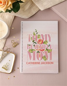 gifts: Personalised Beautiful Mom Notebook!