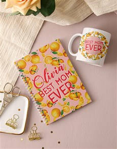 gifts: Personalised Best Mom Ever Notebook!