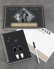 gifts: Personalised Husband And Father Note Set!