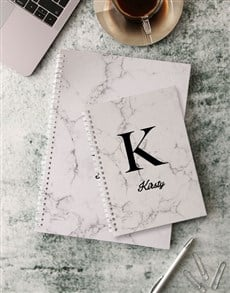gifts: Personalised Modern Marble Notebook!