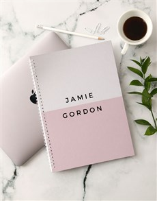 gifts: Personalised Modern Pink Notebook!