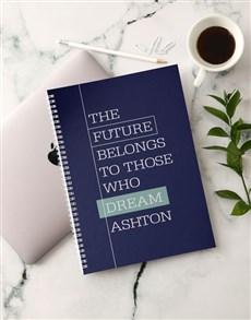 gifts: Personalised Future Dreams Notebook!