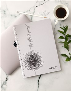 gifts: Personalised Path To Success Notebook!