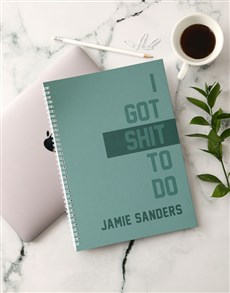 gifts: Personalised Things To Do Notebook!