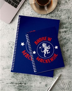 gifts: Personalised Lion Emblem Notebook!