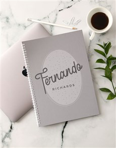 gifts: Personalised Trendy Emblem Notebook!