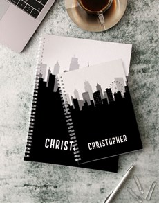 gifts: Personalised City Skyline Notebook!