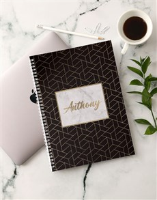 gifts: Personalised Gold Sophistication Notebook!