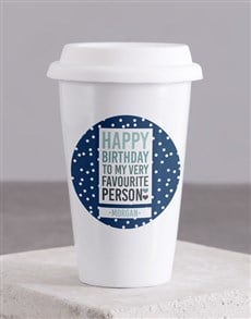 gifts: Personalised Favourite Person Ceramic Travel Mug!