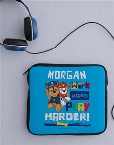 gifts: Personalised Work Is Play Kids Tablet Cover!