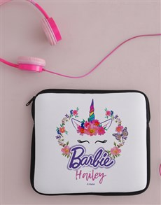 gifts: Personalised Barbie Unicorn Kids Tablet Cover!