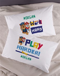 gifts: Personalised Work Is Play Kids Pillow Set!