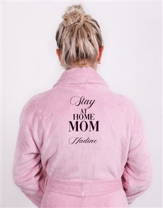 gifts: Personalised Slay At Home Mom Pink Fleece Gown!