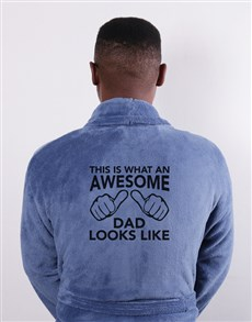 gifts: Personalised Awesome Dad Blue Gown!