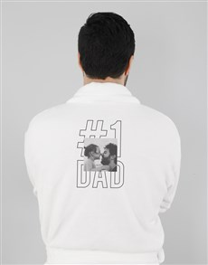 gifts: Personalised Number One Dad White Gown!