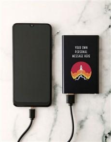 gifts: Personalised Rocket Black Powerbank!