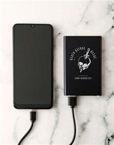 gifts: Personalised Decaf Skull Powerbank!