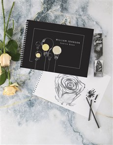 gifts: Personalised Lightbulb Sketch Book !