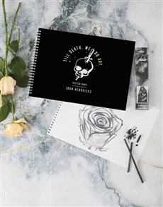 gifts: Personalised Till Death Do We Art Sketch Book !